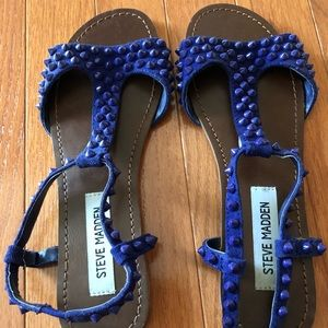 Steve Madden Shoes - Steve Madden purple sandals with studs - size 7.5